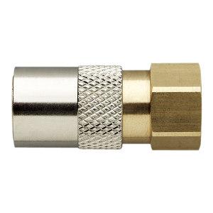 MOULDPRO/默铂 母头有阀快速接头 20KIR1/8V 接口G1/8 内螺纹 黄铜 1包