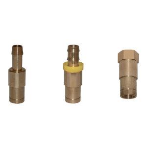 MOULDPRO/默铂 接头组合板Push Lock按压锁定替换接头 MC-C13P 接口DN13 快速接头 黄铜 1件