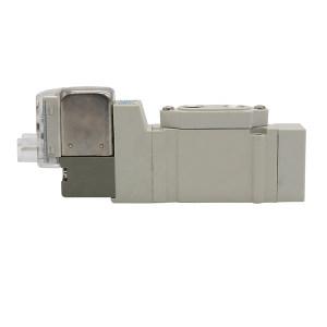 SMC SY5000系列五通电磁阀 SY5140-5LZD 两位五通 L型插座式 DC24V 1个