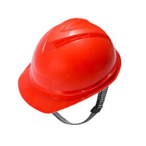 MSA/梅思安 V-Gard500 ABS豪华型有孔安全帽 10146644 红色 带透气孔 一指键帽衬 PVC吸汗带 C型下颏带 1顶