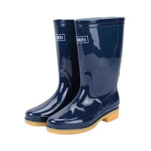 HUILI/回力 女士兰色中筒雨靴 813 38码 1双