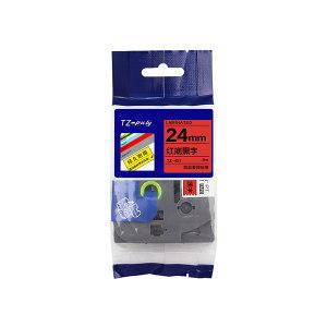 PT/普贴 标准覆膜色带 TZ2-451 红底黑字 24mm 1卷