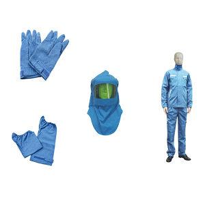 SRO/圣欧 12.7Cal防电弧套装 12.7Cal防电弧套装 XL 蓝色 包含衣服套装/头罩/手套以及脚套 1套