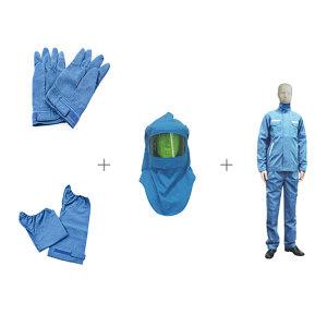 SRO/圣欧 12.7Cal防电弧套装 12.7Cal防电弧套装 XXL 蓝色 包含衣服套装/头罩/手套以及脚套 1套