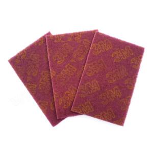 3M 工业百洁布(单片咖啡红) 3M-7447 145x230mm 1片