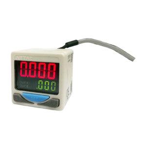 AIRTAC/亚德客 DPS系列电子式数显压力开关 DPSN1-01020 压力范围-100~100kPa 接口Rc1/8 NPN DIN插座式 线长2m 1个