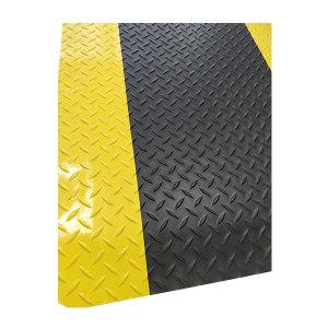 RISMAT/丽施美 耐磨抗疲劳垫 WGXJAF-060090 黑色黄边 0.60m*0.90m 1块