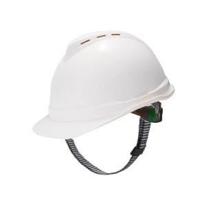 MSA/梅思安 V-Gard500 ABS豪华型有孔安全帽 10146671 白色 带透气孔 一指键帽衬 针织布吸汗带 D型下颏带 1顶