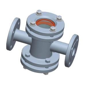 HGPV/鸿冠 直通双面视镜 SJ-ZT-DN40 法兰连接接口 使用温度0~100 1台