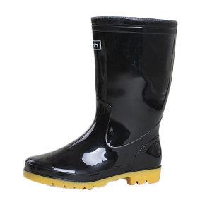 HUILI/回力 男款黑色中筒雨靴 807 39码 1双