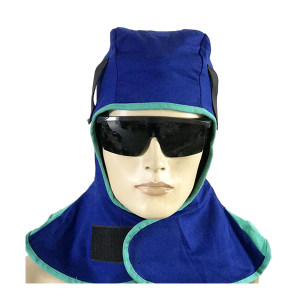 WESTUN/威仕盾 蓝色阻燃布披肩帽 W-6680 均码 1个