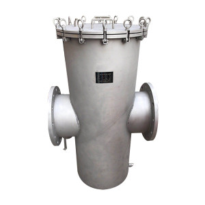 HGPV/鸿冠 工业级篮式过滤器 DN80 PN16 法兰连接接口 目数10 壳体尺寸159×400 中心标准高度250 1台