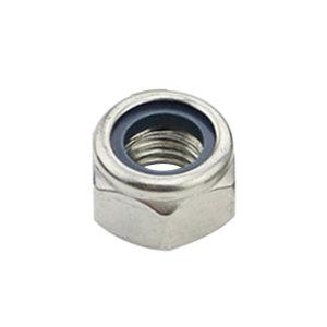 ZKH/震坤行 DIN985 非金属(尼龙)六角锁紧薄螺母 不锈钢304 A2-70 本色 211512004000000000 M4 1个