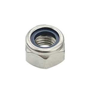 ZKH/震坤行 DIN985 非金属(尼龙)六角锁紧薄螺母 不锈钢304 A2-70 本色 211512006000000000 M6 1个