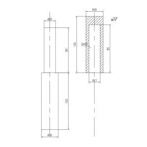 ZKH/震坤行 折页 低碳钢 ∮30×240 1组