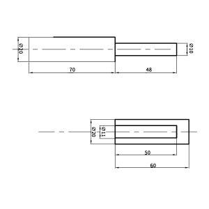 ZKH/震坤行 折页 低碳钢 ∮20×130 1组