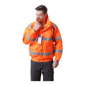 BODYGUARD WORKWEAR/博迪嘉 防风防雨夹克 GN410B XL 荧光橙 可脱卸内胆 1件