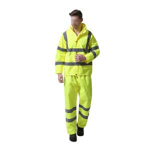 BODYGUARD WORKWEAR/博迪嘉 防雨服套装 CN032Y 2XL 荧光黄 1件