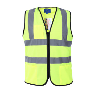 BODYGUARD WORKWEAR/博迪嘉 普通款多口袋荧光背心 CN034 L 荧光黄 1件