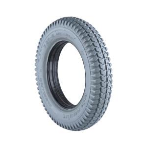 ZHENGXIN/正新 14寸实心的橡胶胎(灰色) 3.00-8 实心橡胶胎     外层材料:橡胶外胎       填充材质:发泡PU                 型号规格:14寸3.0-8 外径350mm  内径200mm  宽80mm, 键槽 19*45 1个