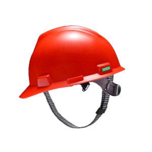 MSA/梅思安 V-Gard PE标准型安全帽 10146455 红色 一指键帽衬 PVC吸汗带 D型下颏带 1顶
