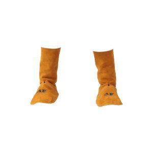 AP/友盟 金黄色全皮中筒脚盖 9400 20cm长 1副