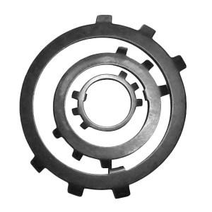 ZKH/震坤行 圆螺母用止动垫圈 A3钢 发黑 φ16 GB/T858 1个