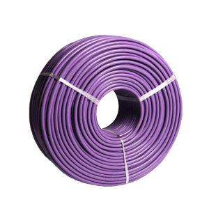 QIFAN/起帆 铜芯聚氯乙烯绝缘软电缆 BVR-450/750V-1×4 紫色 100m 1卷