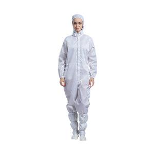 HYJJ/翰洋洁净 三连体防静电条纹洁净服 H-1109 S 白色 1件