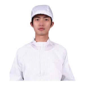 HYJJ/翰洋洁净 条纹防静电小工帽 KL-3009 均码 白色 1顶