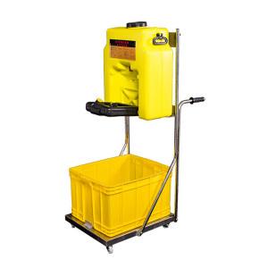 BOHUA/博化 移动推车洗眼器 ZKH34-2020 黄色 ABS桶 304不锈钢推车 1台