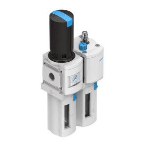 FESTO/费斯托 MSB6系列气源处理装置组合  MSB6-1/2:J9:M2 过滤精度5μm 压力范围0.5~12bar 接口G1/2 手动排水式 附压力表 1件