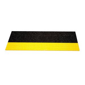 SAFEWARE/安赛瑞 楼梯防滑踏板 12093 3mm厚玻璃钢基材 黑/黄 1个
