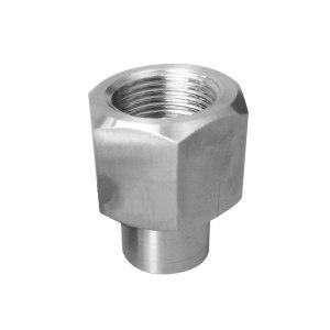 HGPV/鸿冠 316H内螺纹焊接活接头 内螺纹M20*1.5-φ14*2焊接活接头 1个