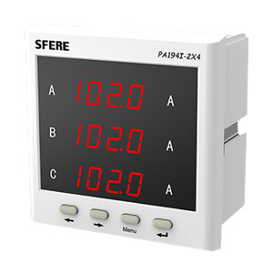 SFERE/斯菲尔 三相交流电流表 PA194I-2X4 AC1A 1台