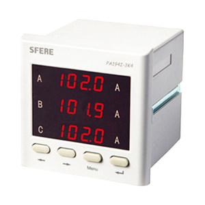 SFERE/斯菲尔 三相交流电流表(带变送输出) PA194I-3K4 AC1A 1台