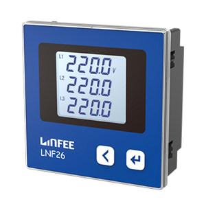 LINFEE/领菲 LCD电压表 LNF26 AC100V-三相三线 1台