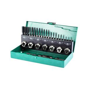 SATA/世达 32件高速钢粗牙丝锥板牙组套 SATA-50452 1套