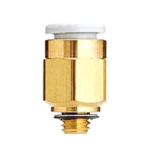 SMC KQ2系列直通接头 KQ2H06-M6A 黄铜接头 快插接口6mm 外螺纹M6 1个