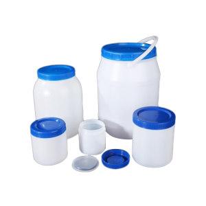 LEIGU/垒固 塑料直筒瓶蓝盖 S-001701 250mL 口径66mm 直径77mm 高度84mm 100个/箱 1个