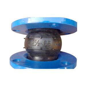 HONGKANG/宏康 JGD41系列橡胶软接头 JGD41-16-DN65 115mm 丁腈橡胶 1个