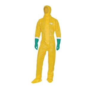 DELTA/代尔塔 限次型无纺布连体防化服 406030 2XL 黄色 1件
