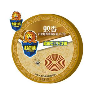 SUPERB/超威 卫生线香(小盘蚊香) 6920174762631 10盘装 45g×10盘 檀香型 1盒
