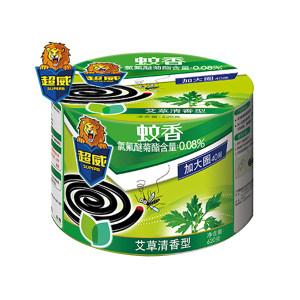 SUPERB/超威 微烟蚊香(家庭实惠装加大盘) 6920174761535 40盘装 620g 艾草清香型 1盒