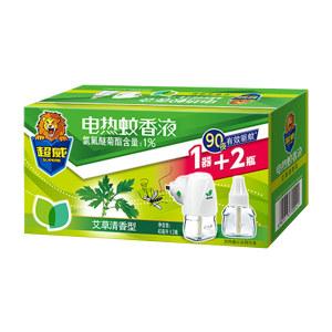 SUPERB/超威 电蚊香液+直插加热器(特惠装) 6920174700541 组合装 40mL×2+1器 艾草清香型 1盒