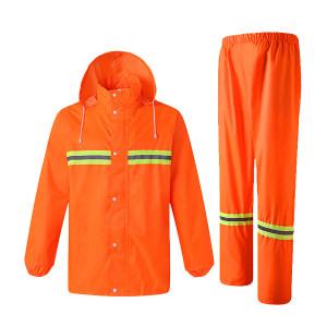XINGHUA/星华 涤丝纺复合环保PVC反光雨衣套装 9006 2XL 荧光橙 1件