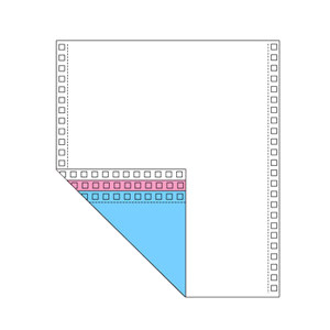 CHENGKE/晨科 电脑打印纸 241-3彩色 压线 3联 1000页 彩色 带压线 1箱