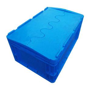 ZKH/震坤行 EU翻盖周转箱 EU4622翻盖 外尺寸600×400×230mm 蓝色 承重35kg PP 翻盖 1个