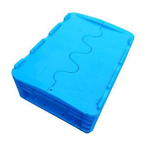 ZKH/震坤行 EU翻盖周转箱 EU43148-翻盖 蓝色 翻盖  400*300*148mm 承重25kg 材质PP 1个