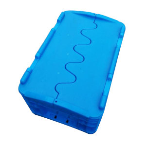 ZKH/震坤行 EU翻盖周转箱 EU23148-翻盖 蓝色 翻盖  300*200*148mm 承重20kg 材质PP 1个